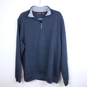 Tasso Elba Men's Quarter-zip Blue Sweater XL